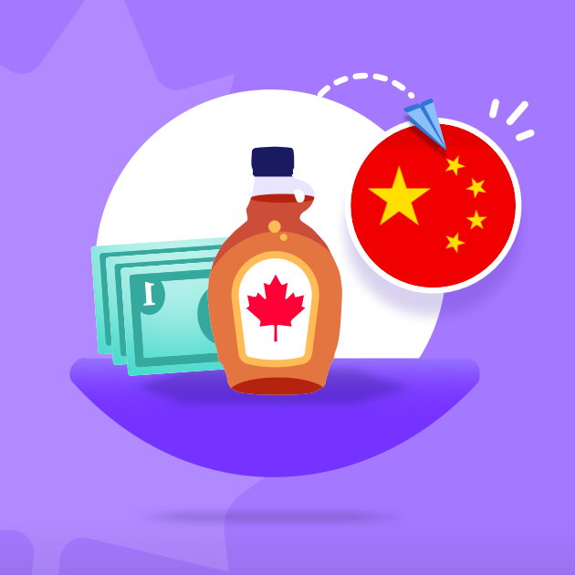How to send money from Canada to China