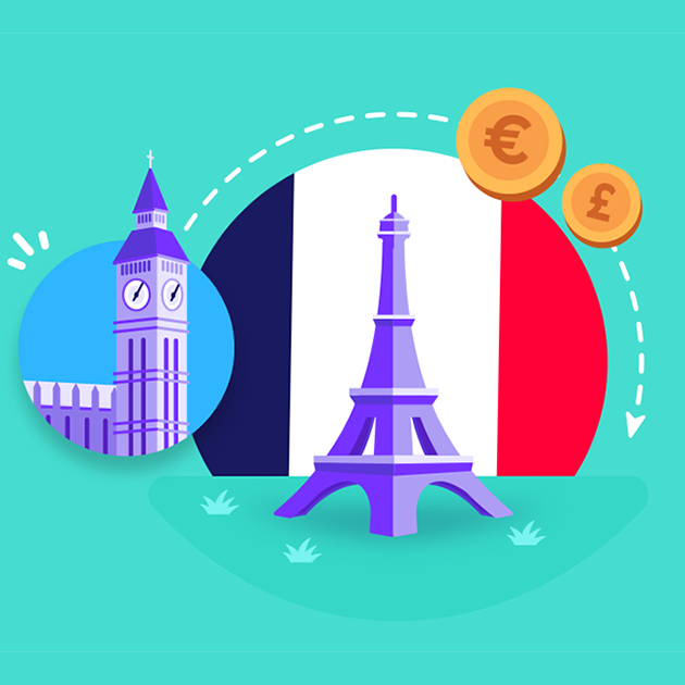 How to send money from the UK to France