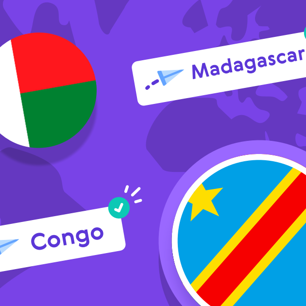 We've launched in Madagascar, Colombia, Congo-Brazzaville and Niger!